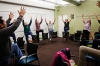 A yoga class at the SAGE Center in Manhattan, Oct. 29, 2013. SAGE is the country's only senior center catering to the LGBT community.
