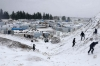 Syrian refugees snow