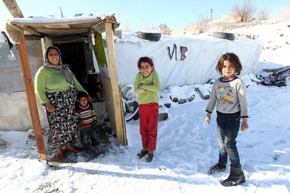 Winter Weather Threatens Syrian Refugee Camps In Lebanon