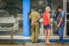 Cubans look at new and used cars for sale at a car dealer in Havana