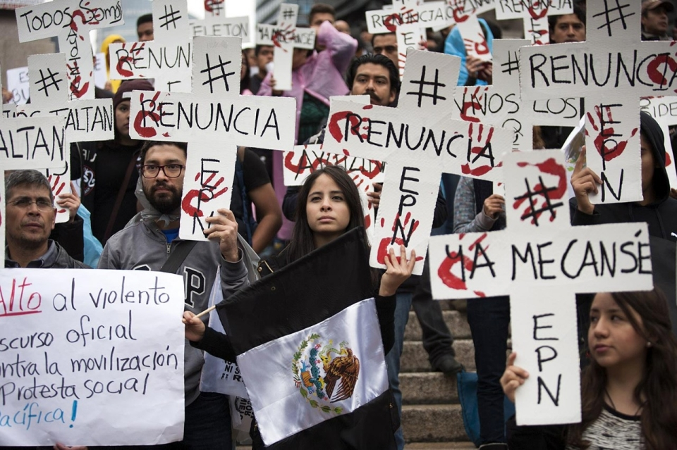 Mass Mexico protests target government over student disappearances ...