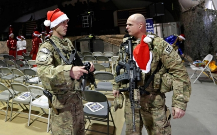 Photos: Christmas day in Afghanistan