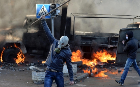 Thumbnail image for Photos: Kiev is burning