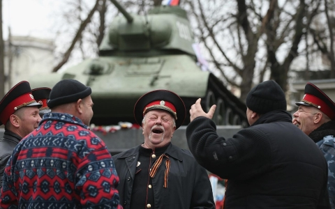 Thumbnail image for Photos: Cossacks in the Crimea crisis