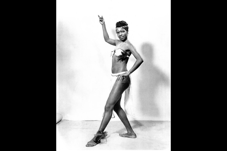 Angelou as a dancer in the  Maya Angelou As A Singer