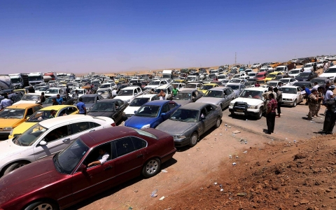 Thumbnail image for Photos: Iraqis flee fighting in Mosul