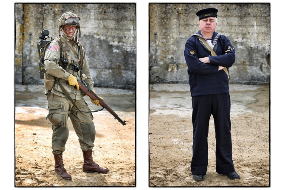 Photos re enacting d day al jazeera america two re enactors thomas kerry left from the czech republic wears a replica us 82nd airborne division uniform joseph smith of the uk wears a replica publicscrutiny Choice Image