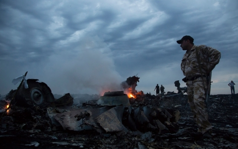 Thumbnail image for Photos: Malaysian airliner crash site in Ukraine
