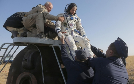 Photos: Astronauts return to earth in Soyuz capsule