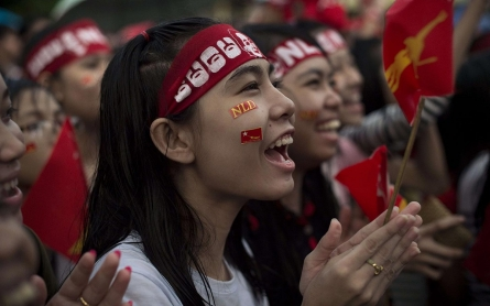 Photos: Faces in the crowd at Myanmar's NLD election victory