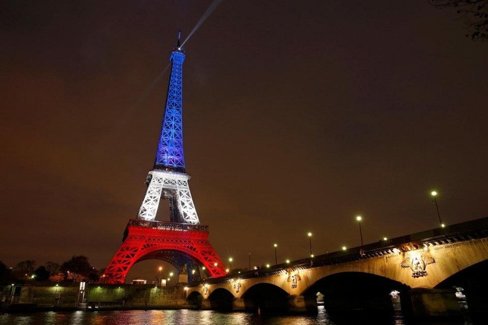 In Solidarity With The People of France (Paris, France The Eiffel Tower, 11/16/2015; Al Jazeera)