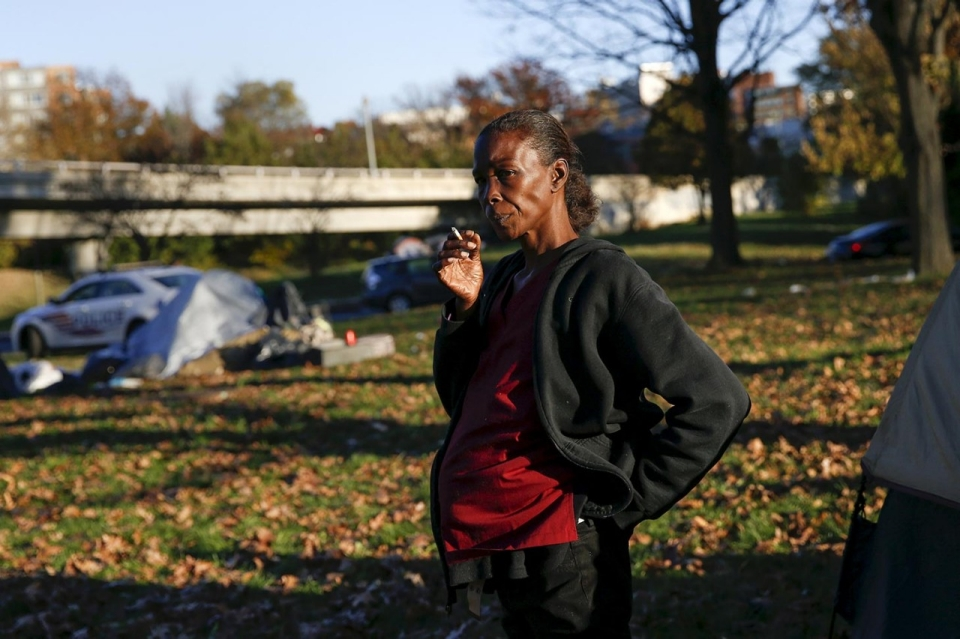 Buzz Chevara 56 at SHARE/WHEEL Tent City 4 Oct. 9 2015.  The concept of tent city means community safety and a place to be where nobody is going to ... & Photos: Life in US Tent Cities | Al Jazeera America