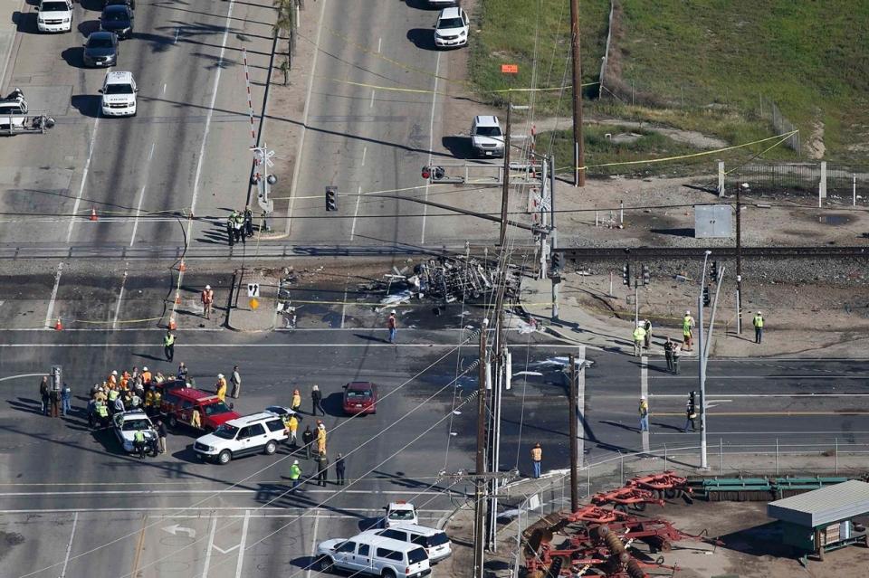 train crash OxnardTrain Crash Truck