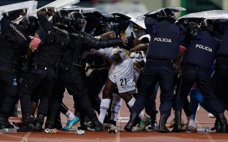 Photos: Violence erupts at Africa Cup of Nations semi-final soccer match