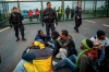 migrants flood channel tunnel entrance