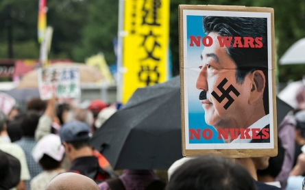 Massive protest in Tokyo against PM Shinzo Abe's security bills