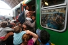 Hungary refugees train station