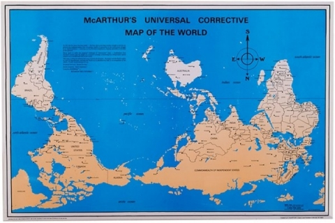 Flipped World Map.How The North Ended Up On Top Of The Map Al Jazeera America