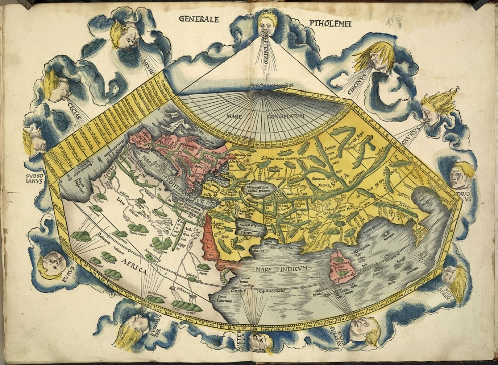 How the north ended up on top of the map al jazeera america ptolemy ptolemys map gumiabroncs Images