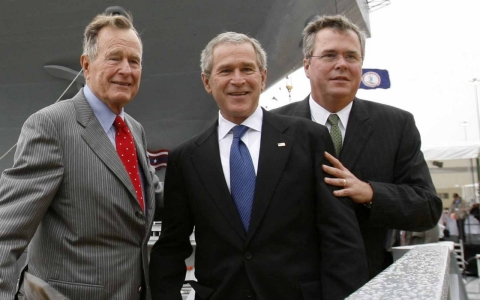 Thumbnail image for Bush and Clinton clans raise banners for 2016 battle