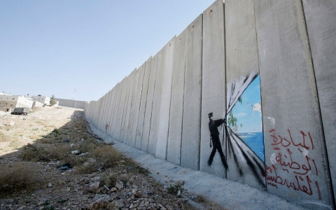 Thumbnail image for Mr. Netenyahu, roll this wall over that way a touch