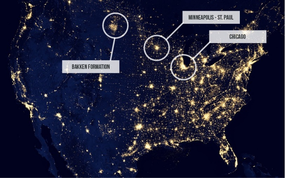 In North Dakota There Will Be Blood Al Jazeera America - Us at night map