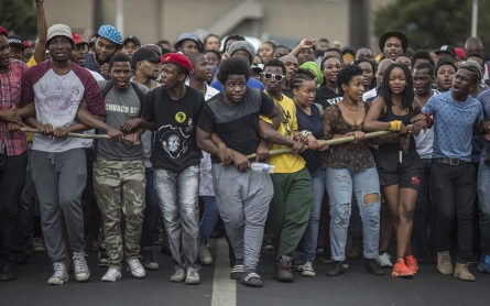 South African students show they have had enough