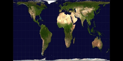 The Gall Peters Projection Emphasizes Africa By More Accurately  Representing Land Area. In Order To Get Africau0027s Size Right, It Must  Distort Its Shape More ...