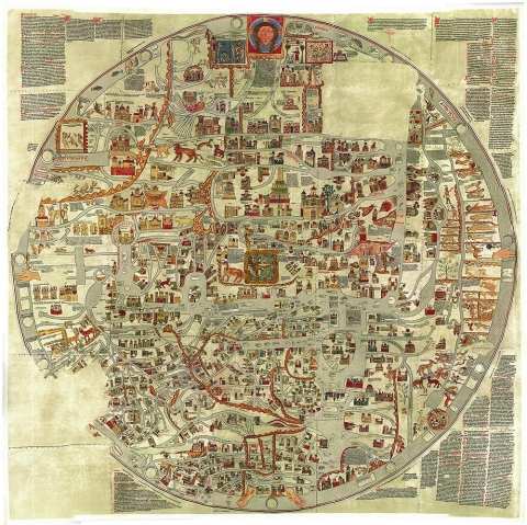 Every map youve ever seen of africa is right al jazeera america a sprawling world centered on christ enthroned in the holy city click on image to enlarge gumiabroncs Images