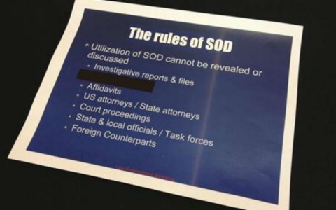 A slide from the U.S. Drug Enforcement Administration's Special Operations Division.