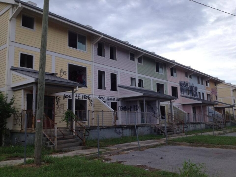 A ravaged New Orleans neighborhood remains almost untouched in the years following Hurricane Katrina