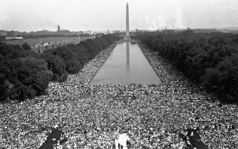 A view from the March on Washington in 1963.