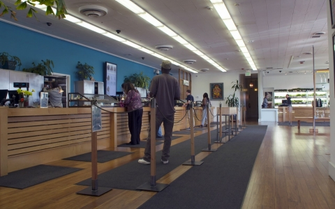 Harborside Health Center in Oakland has roughly 130,000 registered patients – more than all the medical marijuana patients in the state of Colorado.