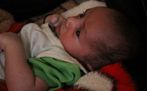 Mished was just 9 days old when the drone struck and killed his father, Arf Ahmed al-Taysi, who is survived by his wife and six other children. They live in the remote hillside village of Jishm, home to five of the 12 civilians killed.