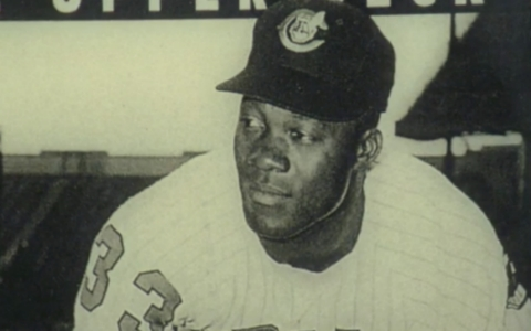 "Jim ""Mudcat"" Grant during his playing days with the Cleveland Indians. Grant and ""Sweet"" Lou Johnson recently talked about some of the instances of racism they faced during their playing days."