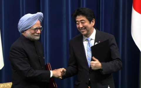 After reaching deals to sell nuclear reactors to Turkey, the United Arab Emirates and India, Abe, right, has vested interests in nuclear power globally.