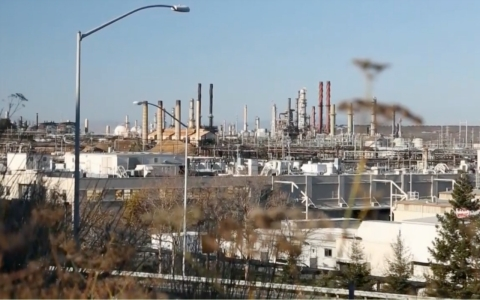 A view of the Chevron refinery complex in Richmond, Calif.