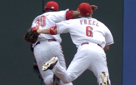 In a May 2007 game, Freel's head collided with the right elbow of teammate Norris Hopper.