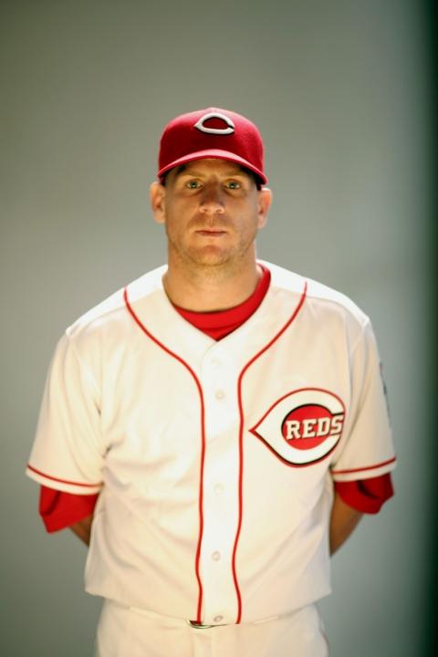 Ryan Freel during Reds Media Day for the 2007 season.