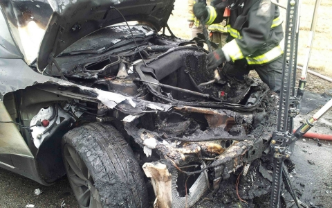 Thumbnail image for Third Tesla Model S electric car catches fire