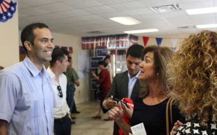 On the campaign trail with 'the next George Bush'