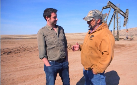"Farmer Bob Ganaway tells Christof Putzel that Williston will ""probably be a good town again someday."""