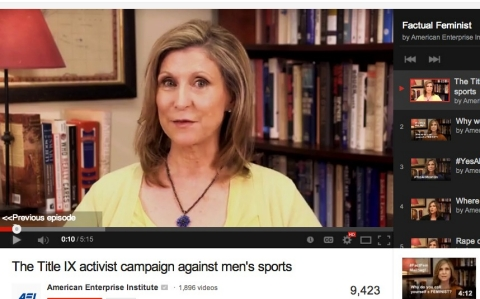 "Christina Hoffman Sommers' YouTube channel, ""Factual Feminist"""