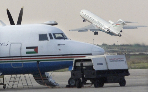A Palestinian Airlines flight bound for Cairo lifted off from Gaza International Airport.