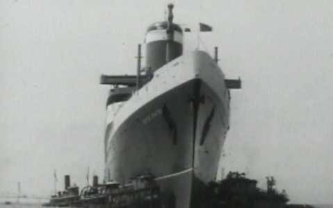 The SS United States was always prepared to go to battle.