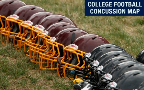 Thumbnail image for Explore: The 2013 College Football Concussion Map