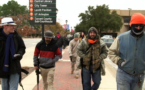 Thumbnail image for Guns, cameras, action: Texas' open-carry cop watchers tote AK-47s