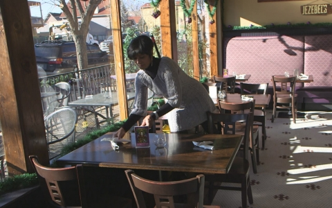 Wanda James working at her restaurant, Jezebel's, in Denver.