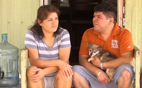 Margarita and Roberto Sanchez say they were frightened about the $800 monthly increase facing them at the North Lamar Mobile Home Park.
