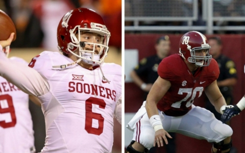 Baker Mayfield, left, and Ryan Kelly are both headed to the College Football Playoff.